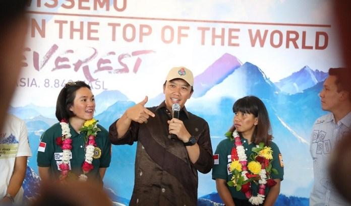 Menpora Imam Nahrawi berharap keberhasilan Deedee dan Hilda menaklukkan 7 puncak tertinggi di 7 benua bisa menjadi inspirasi atlet di Asian Games 2018. (Kemenpora)