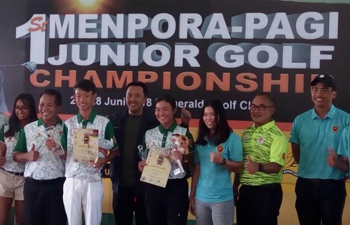 Menpora Imam Nahrawi berharap turnamen golf Piala Menpora khusus junior, dapat kembali digelar secara rutin. (Adt/NYSN)