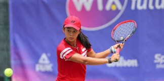 Petenis Indonesia Priska Madelyn Nugroho, pernah menjadi juara KU 14 di ajang WTA Future Stars, di Singapura. (twitter)