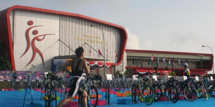 Venue cabor menembak, di kawasan Jakabaring Sport City Complex, Palembang, Sumatera Selatan. (kompas.com)