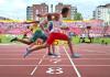Catatan waktu 10,18 dari atlet muda Indonesia, Lalu Muhammad Zohri (merah), di Kejuaraan Dunia Atletik U-20 cabang 100 meter putra, ternyata kalah jauh dari rekor Asian Games 2014 milik sprinter asal Qatar, Femi Ogunade. (thejakartpost.com)