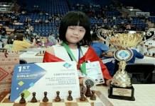 Samantha Editsho, pecatur cilik asal Bandung, Jawa Barat, merupakan atlet catur nomor satu di dunia, untuk kelompok umur U-10, berdasarkan Elo Rating.(pepnews.com)