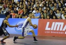 Tim putra Universitas Pelita Harapan (UPH-putih) menjuarai LIMA 2018 regional Jakarta raya usai mengalahkan Universitas Esa Unggul (UEU) dengan skor 89-66, pada Senin (2/7). (Ham/NYSN)