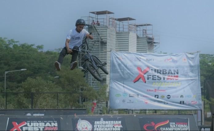 Kejuaraan Nasional bertajuk 'BMX Freestyle National Championship 2018', diikuti 50 peserta dari Tanah Air, dan dihelat di BSD Extreme Park, Tangerang, Banten, 27-28 Juli. (Rizal/NYSN)