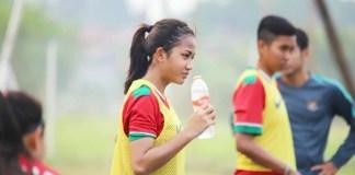 Safira Ika Putri Kartini baru berusia 15 tahun, sudah menjadi pemain inti Timnas sepak bola Putri Indonesia dalam ajang Asian Games 2018 Jakarta-Palembang. (instagram)