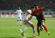 Gelandang serang Timnas U-23 kelahiran Semarang, 2 September 1996, Septian David Maulana (14), bakal ditunggu event Piala AFF 2018 dan Kualifikasi Piala Asia U-23 2020, usai tampil di Asian Games 2018. (Pras/NYSN)