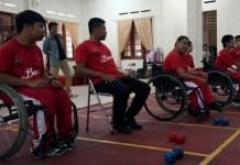 Kontingen Timnas Boccia Indonesia tengah berlatih di Pelatnas Boccia, di Kampus Yayasan Pendidikan Anak Cacat (YPAC), Solo, Jawa Tengah (Jateng), Kamis (6/9), siap menghadapi persaingan di ajang Asian Para Games 2018 untuk mempersembahkan yang terbaik bagi Indonesia. (Adt/NYSN)