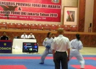 Institut Karate-Do Nasional (Inkanas) DKI Jakarta jadi juara umum dengan meraih 19 medali emas, pada Kejuaraan Daerah (Kejurda) Karate FORKI DKI Jakarta 2018, di Manggala Wanabakti, Kementerian Lingkungan Hidup dan Kehutanan, Jakarta, 11-12 September. (beritasatu.com)