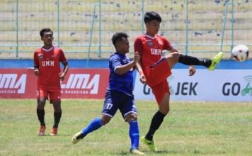 Universitas Muhammadiyah Malang (UMM) mengawali LIMA Football Nationals 2018 dengan kemenangan cukup meyakinkan,3-1, atas Univ. Padjdjaran (Unpad) pada hari pertama perhelatan, pada Selasa (18/9). (LIMA)