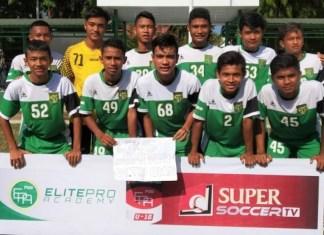 Persebaya Surabaya U-16 menurunkan dua pemain Timnas U-16, Ernando Ari Sutaryadi (71) dan Brylian Negietha Dwiki Aldama (68), dalam laga perdana Seri 3 ajang Liga 1 U-16 Grup C, di Makassar, Sulawesi Selatan, pekan ini. (Persebaya.id)