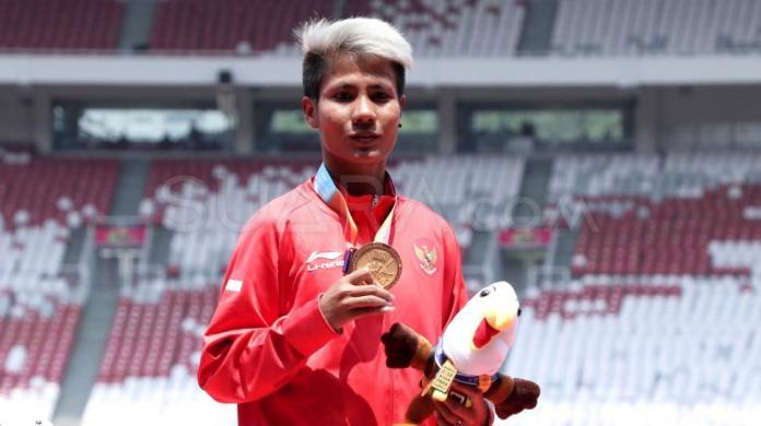 Rica Oktavia peraih medali emas Asian Para Games 2018 dari kategori T20 putri. (suara.com)