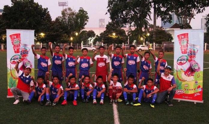 Sebanyak 16 pemain terbaik hasil seleksi U-12 Okky Youth Soccer Team 2018, bakal mewakili Indonesia di event SingaCup 2018 U12, 5-8 November, di The Cage Sports Park, Turf City, Singapura. (istimewa)