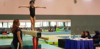 140 atlet senam artistik muda mulai usia 4 tahun hingga 12 tahun, tampil dalam ajang tahunan yang bertajuk Circle Gymnastic Club 4th Annual Competition 2018, di Gedung Senam GOR Ragunan, Jakarta Selatan. (Circle Gymnastic Club)