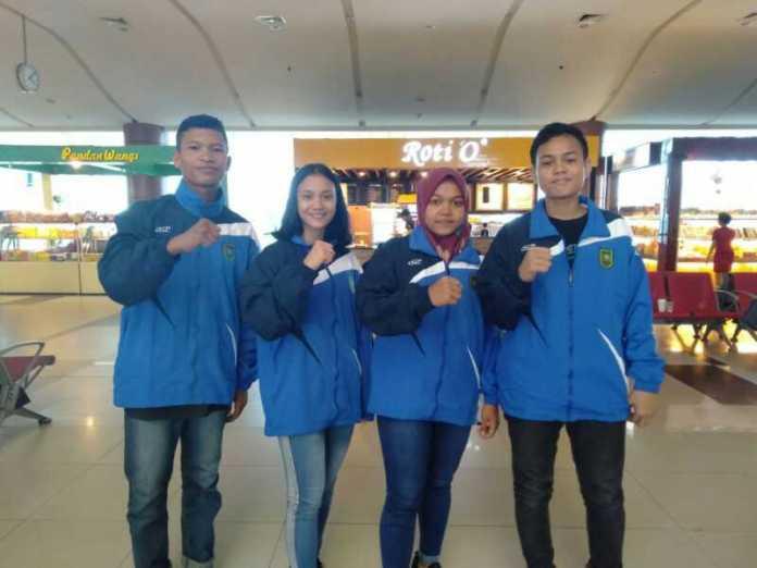 Empat atlet pelajar Kabupaten Bengkalis memperkuat tim sepak takraw PPLP Riau mengikuti Kejurnas di Provinsi Sulbar, 7-13 April 2019. (rri.co.id)
