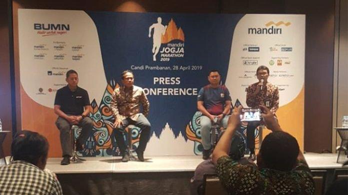 Press Conference Mandiri Jogja Marathon 2019. (Foto: Tribunnews)