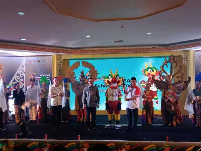 Logo dan maskot ASEAN School Games 2019 resmi diluncurkan di Jakarta. (Adt/NYSN)
