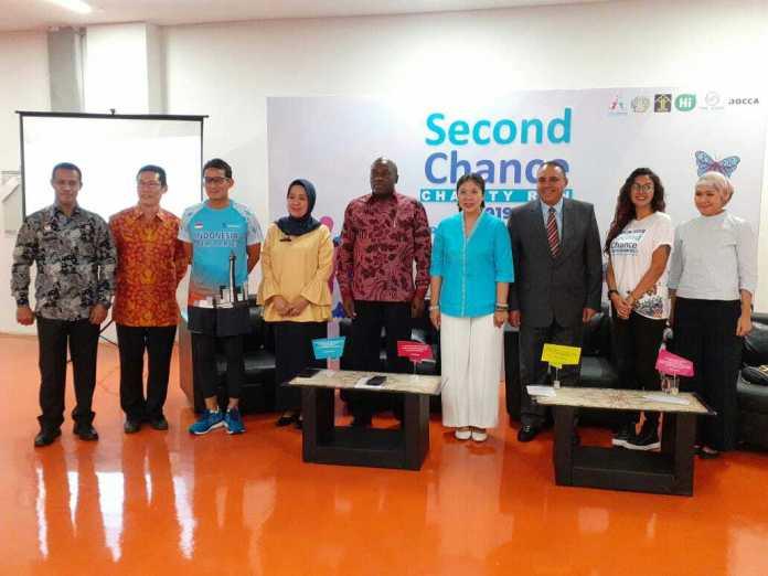 Second Chance Foundation mengajak masyarakat menyebarkan semangat positif melalui Second Chance Charity Run 2019. (Adt/NYSN)