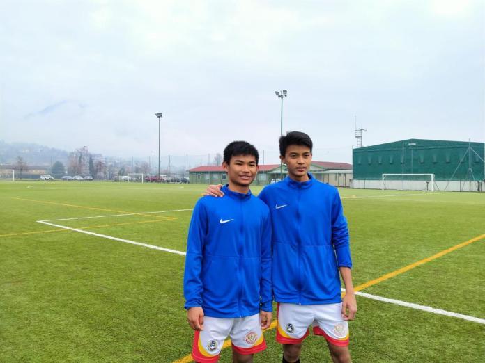 Edgard Amping dan Arsa Ahmad bersyukur ia telah menjalani uji coba dengan tim Inggris dan Italia.