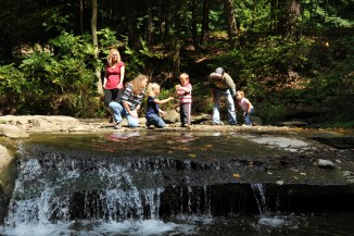 Water explorations, Letchworth State Park, photo by OPHRP