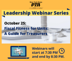 Image with Information about Webinar Series: Fiscal Fitness for Units