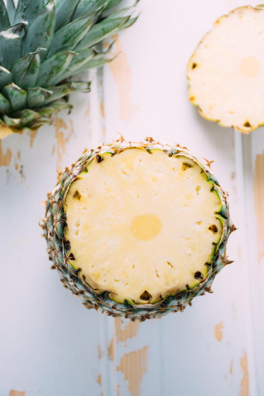 a recipe for blended fresh pineapple margarita's for two! sweetened naturally with honey. refreshing and easy to make at home, this drink will have you doing the happy dance!   www.nyssaskitchen.com
