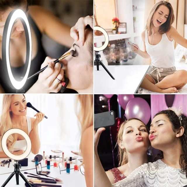 6-10-LED-ring-light-26cm-Photography-Lighting-Dimmable-Selfie-lamp-with-tripod-for-makeup-Youtube-5