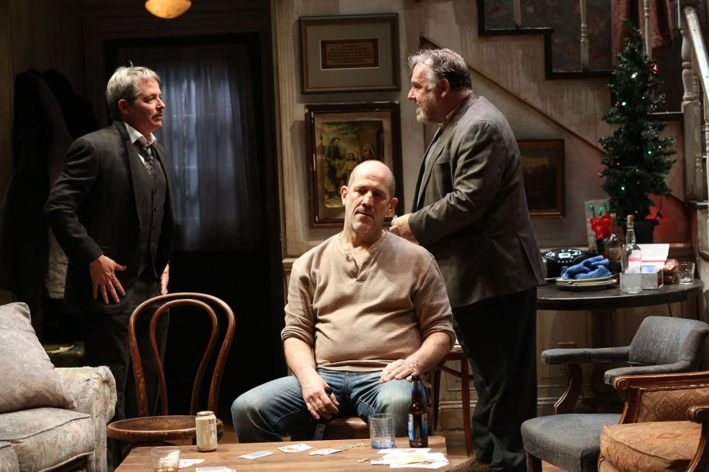 Matthew Broderick, Andy Murray and Colin McPhillamy in The Seafarer. Photo: Carol Rosegg</I>