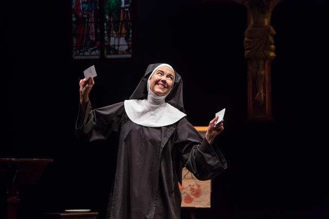 Harriet Harris in <I>Sister Mary Ignatius Explains It All For You</I>, 2018. Photo by Emma K. Rothenberg-Ware.