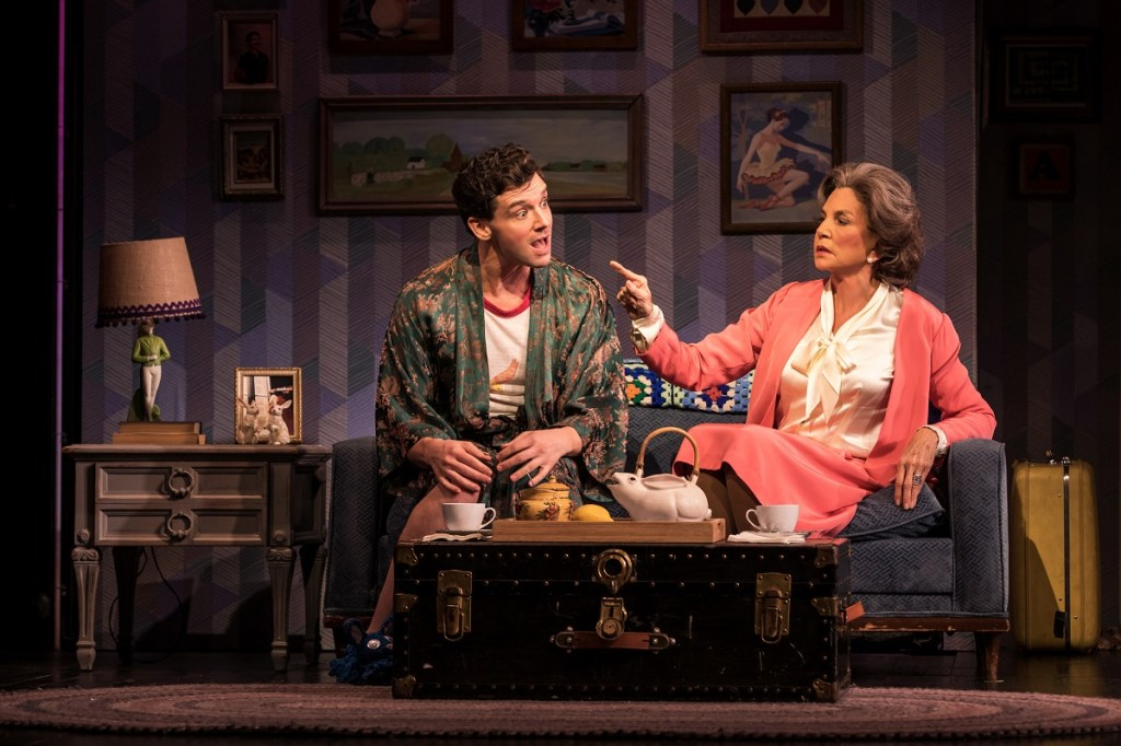 Michael Urie, left, and Mercedes Ruehl in <i>Harvey Fierstein's Torch Song</i>. Photo: Matthew Murphy.