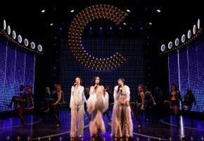 Teal Wicks, Stephanie J. Block, and Micaela Diamond play the title figure of The Cher Show. Photo: Joan Marcus