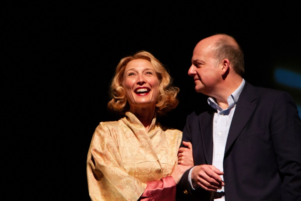 Carrie Paff and Jeffrey Bean portray a couple in About Alice. Photo: Henry Grossman