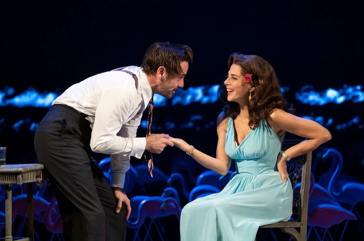 Emun Elliott, Marisa Tomei in The Rose Tattoo. Photo: Joan Marcus