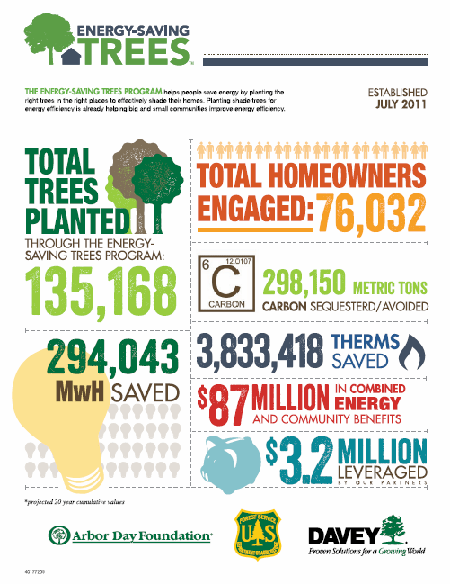 Energy Saving Trees infographic