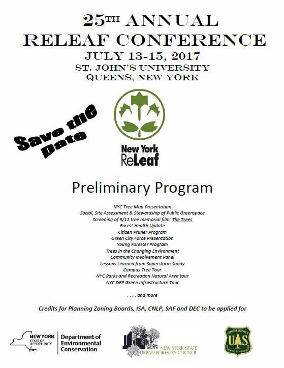 Save the Date & Prelim Program 2017 ReLeaf