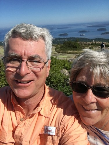 Cadillac mtn with wife of 37 years Betsy