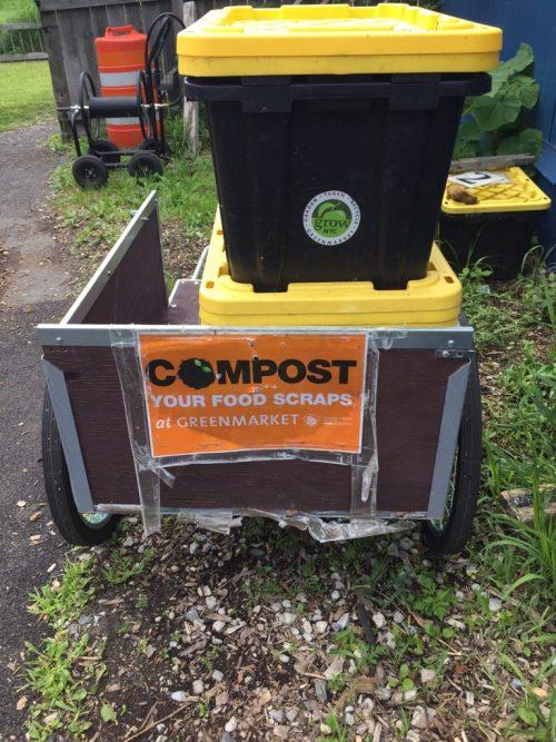 Composting food waste at QBG