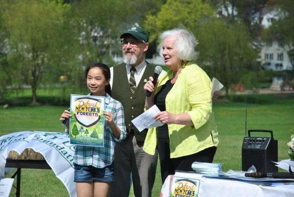 Sarah at Arbor Day ceremony