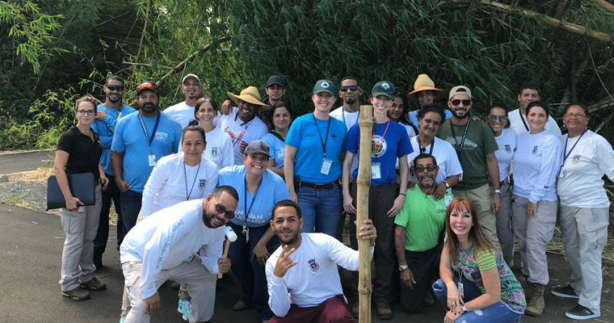 NYC Parks and Munoz park staff
