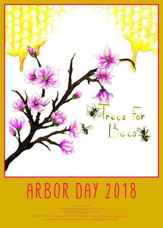 Trees for Bees 2018 AD poster