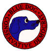 The logo of the Blue Dog Conservative Democrats, a coalition of 47 conservative and moderate Democratic members of the House of Representatives