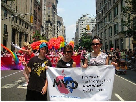 Manhattan Young Democrtas March in 2010 Pride Parade