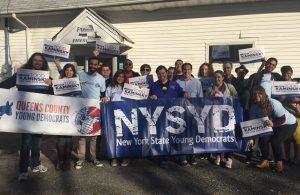 NYSYD Campaigning for Sen. Todd Kaminsky