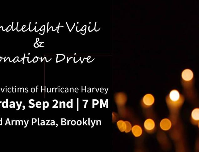 Hurricane Harvey Candlelight Vigil & Donation Drive
