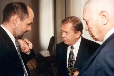 Jiri Pehe with Vaclav Havel