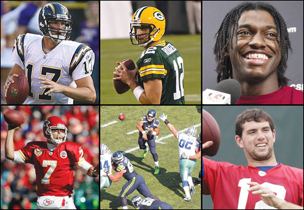 Courtesy of Keith Allison, Mike Morbeck, theseoduke, tbirdshockeyfan and QB Weekly