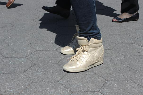 Is it the end of the sneakers as we know it? (Photo by Edelawit Hussien)