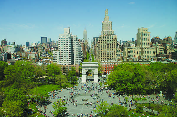 Washington Square Park aerial photo. (WSN File Photo )