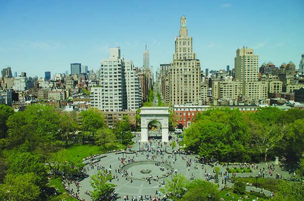 Washington Square Park aerial photo. (WSN File Photo )