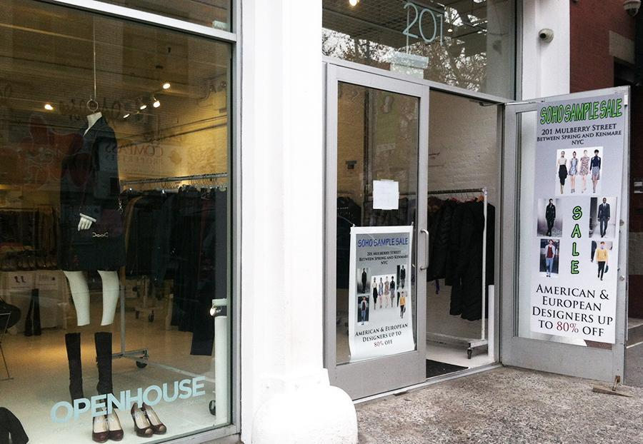 The SOHO Sample Store, a holiday pop-up shop on Mulberry Street, offers discounted designer looks.