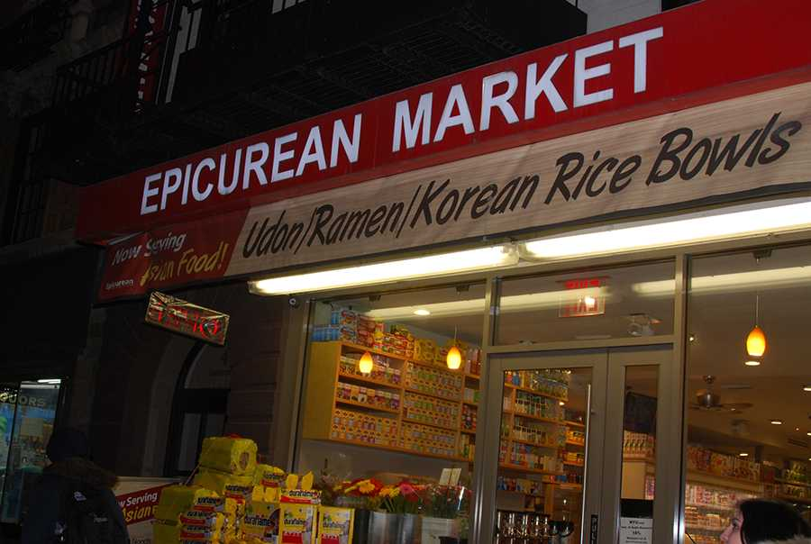 Epicurean+Market+on+University+Place+is+one+of+many+bodegas+in+New+York+City.+